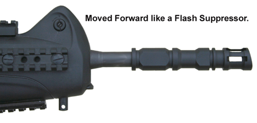 MFI CX4 Beretta Flash Suppressor & or Muzzle Brake in the forward position.