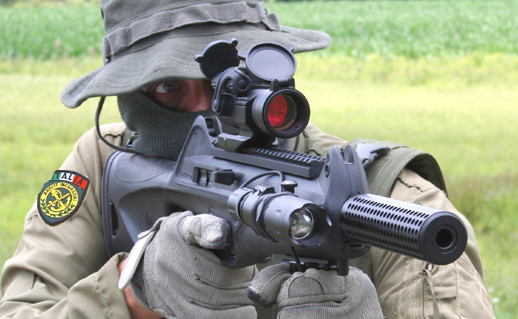 Italian Commando with Beretta USA CX4 Fake Silencer / Barrel Shroud