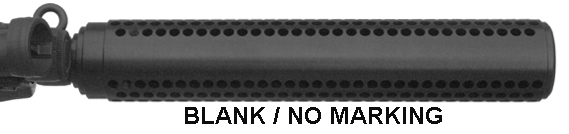 MFI M4 Style Fake Silencer for ATI GSG5 GSG-5 (HK MP5 Style) .22 Caliber Carbine BLANK / No Marking