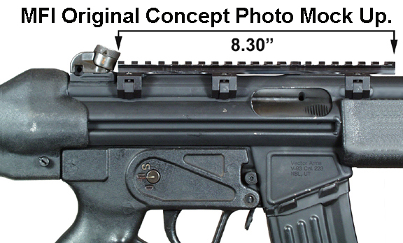 Prototype / PhotoShoped Concept Mock Up of the MFI HK Low 8.5 Long Scope Mount on Heckler & Koch HK93