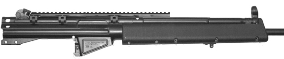 Prototype / PhotoShoped Concept Mock Up of the MFI HK Low 14 inch Long Scope Mount on Heckler & Koch HK91