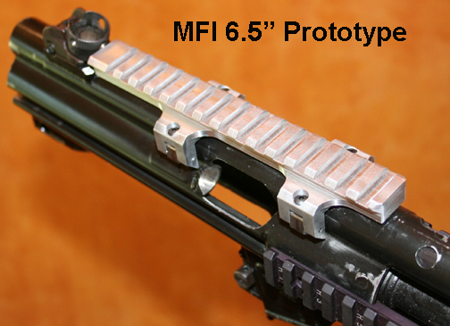 Prototype of the MFI HK Low 6.5 Long Scope Mount on Heckler & Koch MP5