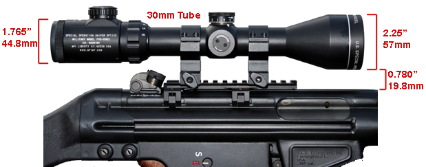 MFI HK Low 5.5 Long Scope Mount on Heckler & Koch HK91 with MFI 30mm TALL Height Heavy Duty Sniper Rings 30mm Sniper Scope.