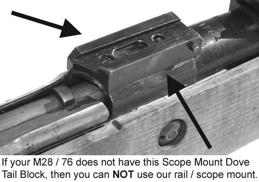 MFI Scope Mount / Rail for Finnish Army Target / SAKO / Mosin Nagant bolt action rifle M28-76 or M28/76.
