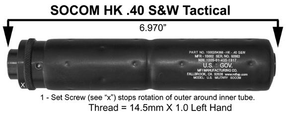 MFI SOCOM Style Fake Silencer U.S. Gov. Logo / Laser Engraving