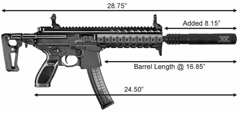 mfi long barrel extension for sig mpx pistols 922r compliant