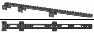"MFI 14"" Long Low Profile Scope Mount for HK91with SLOTS / WINDOWS for serial numbers."