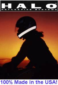Halo Retro reflective Helmet Band. Be safe, be seen & stay alive.