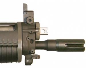 MFI SIG 552 Style Flash Suppressor / Muzzle Brake in 5/8 X 24 Thread.