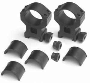 MFI 30mm TALL Sniper Style Scope Ring with 1 inch inserts, wrench type nut and wing nut.