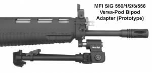 MFI SIG 556 & 55X / 551 Versa-Pod Bipod Adapter.
