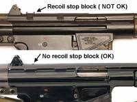 This is the only mount on the market that will stay on the CETME / Century Arms rifles that do NOT have the recoil stop block.