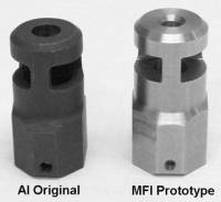 Prototype & Original A.I. Muzzle Brakes compared. MFI Muzzle Brake designed specifically to complete the look of your Remington 700 in the Accuracy International Chassis. 1/2 X 28 tpi.