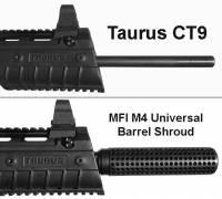MFI M4 Universal Barrel Shroud / Fake Silencer for Taurus CT9 / CT-9