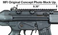 Concept Photoshop Mock Up for 8.5 inch long MFI HK93 Scope Mount.