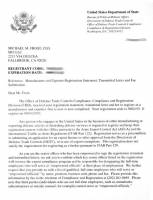 Services - MFI - Le Coint Daniel Export to France of his HKPARTS order ITAR Export Permit @ $50.00 + Priority Mail @ $44.00 = $94.00