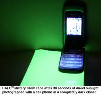 HALO Reflective Products Military Glint & Glow Tape - MFI - Charitable Donation to non-profit SAR #88-0490577 of HALO™ Military Glow In The Dark Tape X 50 Sheets + 4 Units (one long length) of HALO High Visabilaty Tape via Hector Marcayda