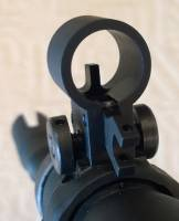 MFI SIG 551 / 550 SANs Style Front Hooded Sight with no fiber optic.