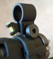 MFI SIG 551 / 550 SANs Style Front Hooded Sight with fiber optic.