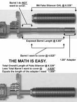 What length adapter do you need? Just do the math... MFI guide to Fake Silencer Adapters.