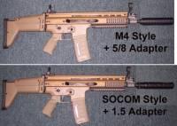 FN SCAR with MFI SOCOM & M4 Barrel Shrouds