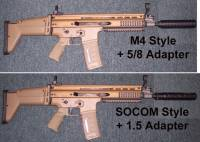 FN SCAR with MFI SOCOM & M4 Barrel Shrouds