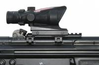 "MFI 5.5"" Long Low Profile Scope Mount for HK Weapons (Universal) on HK-91 with Trijicaon ACOG scope."