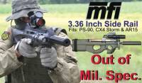 Scope Mounts - MFI - MFI 3.36 Inch (OUT OF MIL. SPEC.) Rail for PS90 / Beretta CX4 / AR15 (Includes bolts)