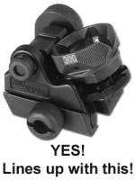 SIG USA Rear Diopter Clip On Rail Drum Style Sight is OK to use with MFI SIG Classic Flip Up Sight.