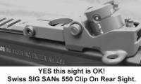 Swiss SIG 550 SANs clip on rear diopter / Drum sight.