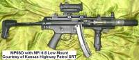 Photo from Kansas Highway Patrol SRT with MFI 6.5 inch long Low Profile scope mount on H&K MP5SD3.