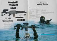 Swiss SIG SANs SG551 SWAT with Versa-Pod Bipod Original Brochure 1980.